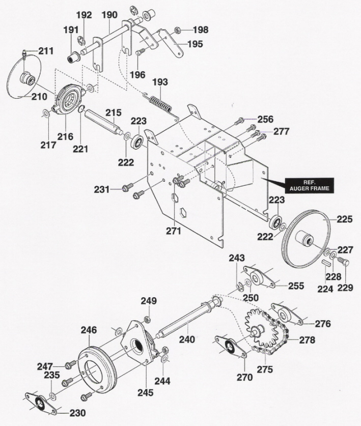 Murray Snow Thrower Parts