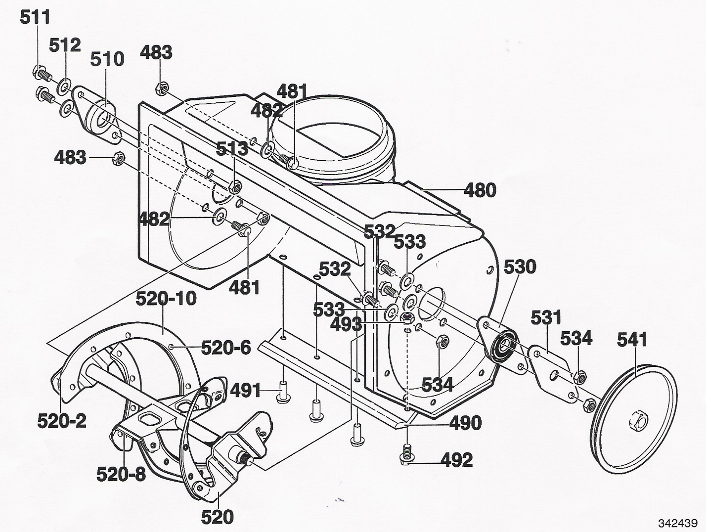 20 murray snow blower schematic