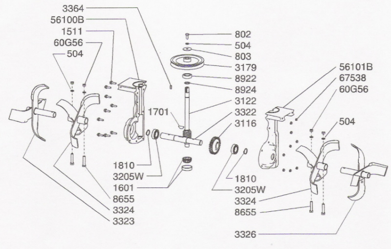 craftsman rear tine tiller repair manual