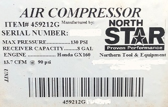 Northstar generator parts call us 501 982 2930 before calling us we need a part number or your item number from your data tag found on the machine fandeluxe Images