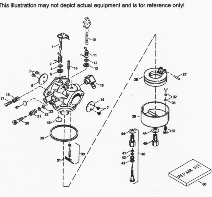 Tecumseh Engine Carburetor Parts Diagram