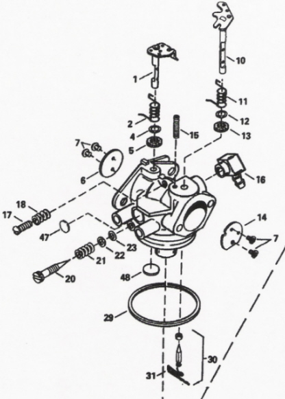 Teseh Carb Rebuild Instructions | Migrant Resource Network on injection pump schematic, tail light schematic, fan blade schematic, alternator schematic, ignition system schematic, headlight switch schematic, valve schematic, transmission schematic, voltage regulator schematic, relay schematic,
